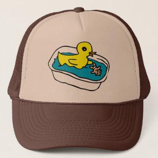 Rubber ducky trucker hat