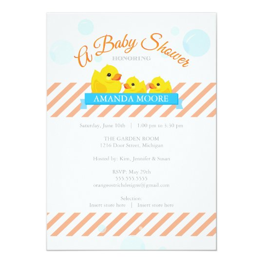 Rubber Ducky |  Twins Baby Shower Invitation