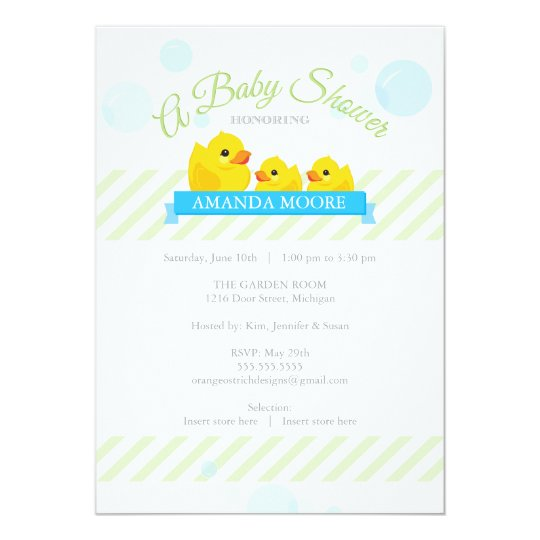 Rubber Ducky Twins Baby Shower Invitation Zazzle Com