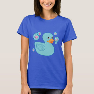 Rubber Ducky with Heart-Filled Bubbles T-Shirt