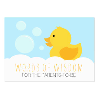 Rubber Ducky Yellow Neutral Baby Shower Advice Large Business Cards (Pack Of 100)