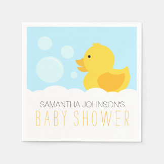 Rubber Ducky Yellow Neutral Baby Shower Paper Napkins