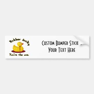 Rubber Ducky - You're The One - Bleeding Duck Bumper Sticker