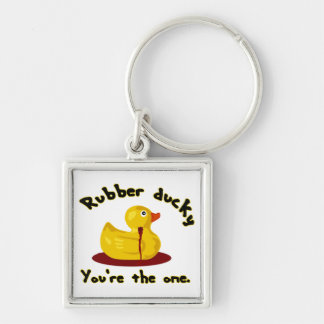 Rubber Ducky - You're The One - Bleeding Duck Keychain