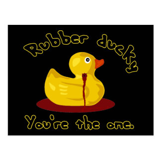 Rubber Ducky - You're The One - Bleeding Duck Postcard