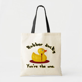Rubber Ducky - You're The One - Bleeding Duck Tote Bag