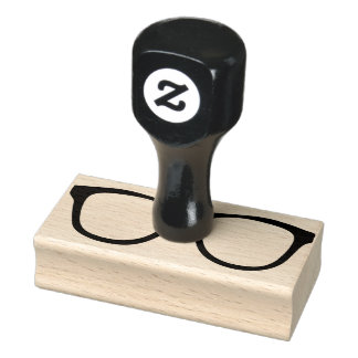 Rubber Eyeglass Stamp with Handle