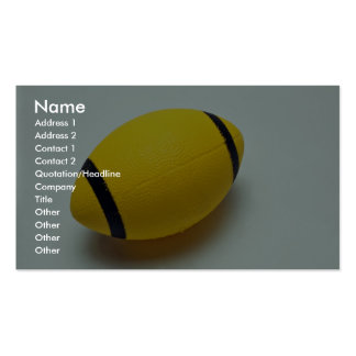 Rubber football Double-Sided standard business cards (Pack of 100)