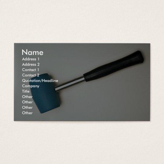 Rubber hammer business card