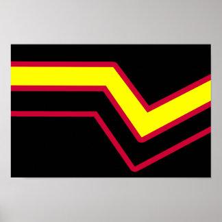 RUBBER LATEX PRIDE FLAG POSTER