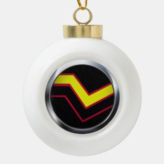 RUBBER LATEX PRIDE MEDALLION CERAMIC BALL CHRISTMAS ORNAMENT