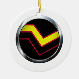 RUBBER LATEX PRIDE MEDALLION Double-Sided CERAMIC ROUND CHRISTMAS ORNAMENT