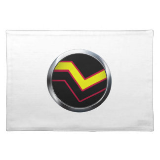 RUBBER LATEX PRIDE MEDALLION PLACEMAT
