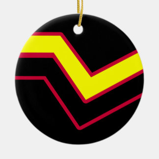 RUBBER LATEX PRIDE Double-Sided CERAMIC ROUND CHRISTMAS ORNAMENT