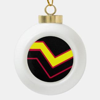 RUBBER LATEX PRIDE CERAMIC BALL CHRISTMAS ORNAMENT