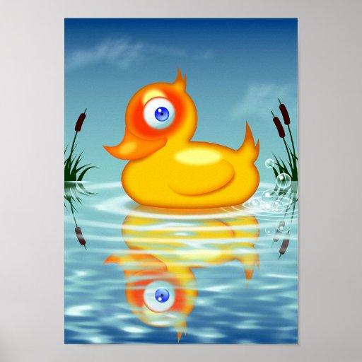 Rubber Quack Bubbles Poster