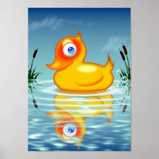 Rubber Quack Bubbles Print