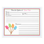 Rubber Spatulas Baking Cooking Recipe Cards Custom Invite