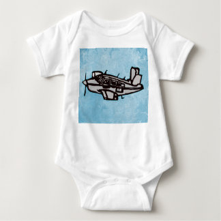 Rubber Stamp, Aeroplane Baby Bodysuit