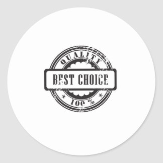 """Rubber stamp """"best choice"""" in vector format classic round sticker"""