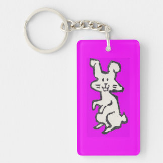 Rubber Stamp Bunny Keychain