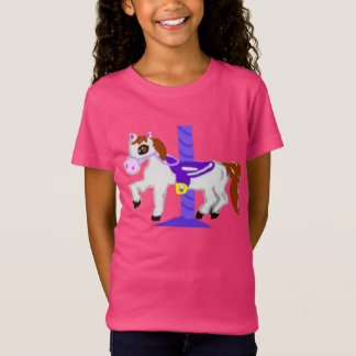 Rubber Stamp, Carousel Horse, In Color T-Shirt