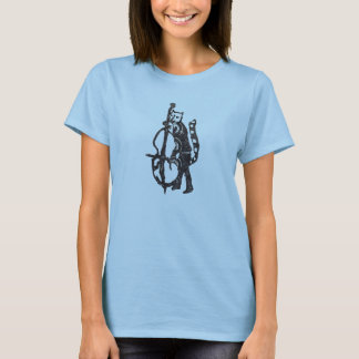 Rubber Stamp, Cat And Double Bass T-Shirt