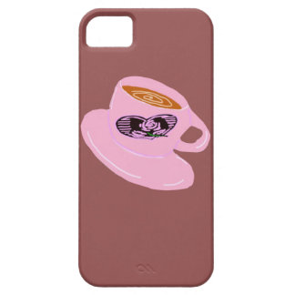 Rubber Stamp Coffee Cup iPhone SE/5/5s Case
