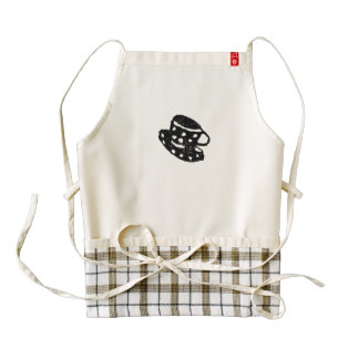 Rubber Stamp, Coffee Cup With Polka Dots Zazzle HEART Apron