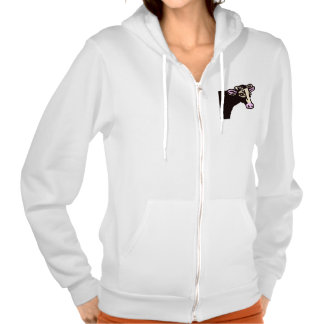 Rubber Stamp, Cow, In Color Hooded Sweatshirt