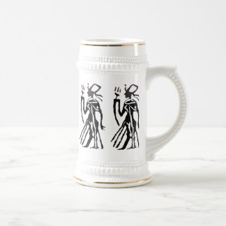Rubber Stamp, Egyptian Statue Beer Stein