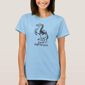 Rubber Stamp, Enos And Farfanugen On Rocking Horse T-Shirt