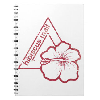 Rubber stamp hibiscus mail notebook