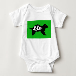 Rubber Stamped Turtle Baby Bodysuit