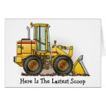 Rubber Tire Loader Construction Equipment Greeting Card