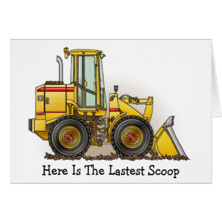 Rubber Tire Loader Construction Equipment Card