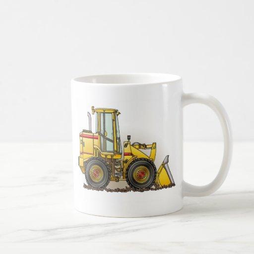 Rubber Tire Loader Construction Equipment Classic White Coffee Mug