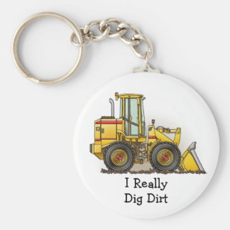 Rubber Tire Loader Construction Equipment Keychain