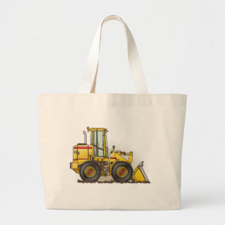 Rubber Tire Loader Construction Equipment Large Tote Bag
