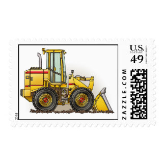 Rubber Tire Loader Construction Equipment Postage