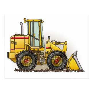 Rubber Tire Loader Construction Equipment Postcard