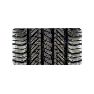 Rubber Tire Style Automotive Texture Label