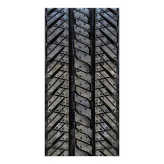 Rubber Tire Style Automotive Texture Photo Card