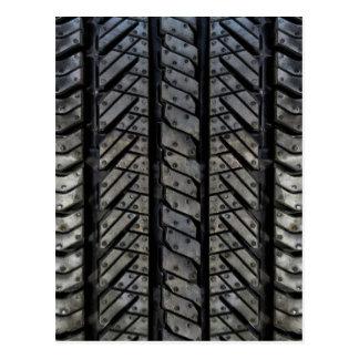 Rubber Tire Style Automotive Texture Postcard