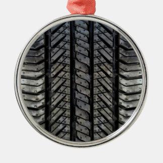 Rubber Tire Thread Automotive Style Decor Metal Ornament