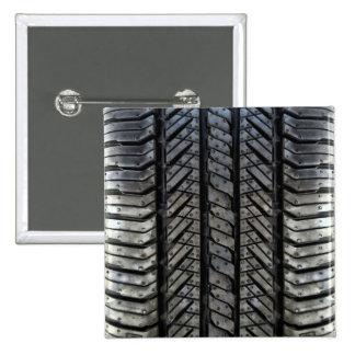 Rubber Tire Thread Automotive Style Decor Pinback Button