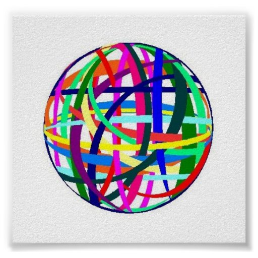 Rubberband Ball - poster/print Poster