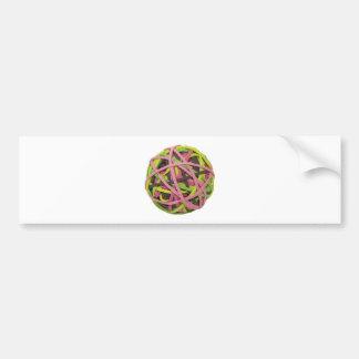 RubberbandBall042310 Etiqueta De Parachoque