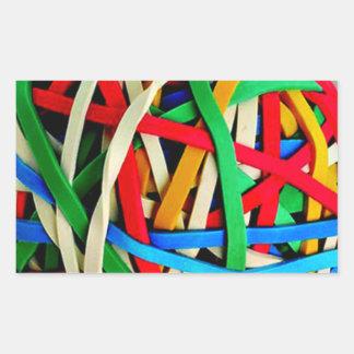 RubberbandBall RUBBERBAND BALL ELASTICS RANDOM COL Rectangular Sticker