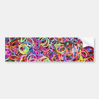 Rubberbands colorido etiqueta de parachoque
